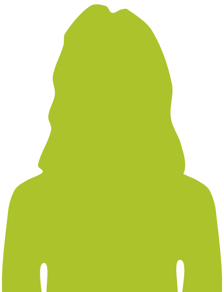 Female silhouette - green