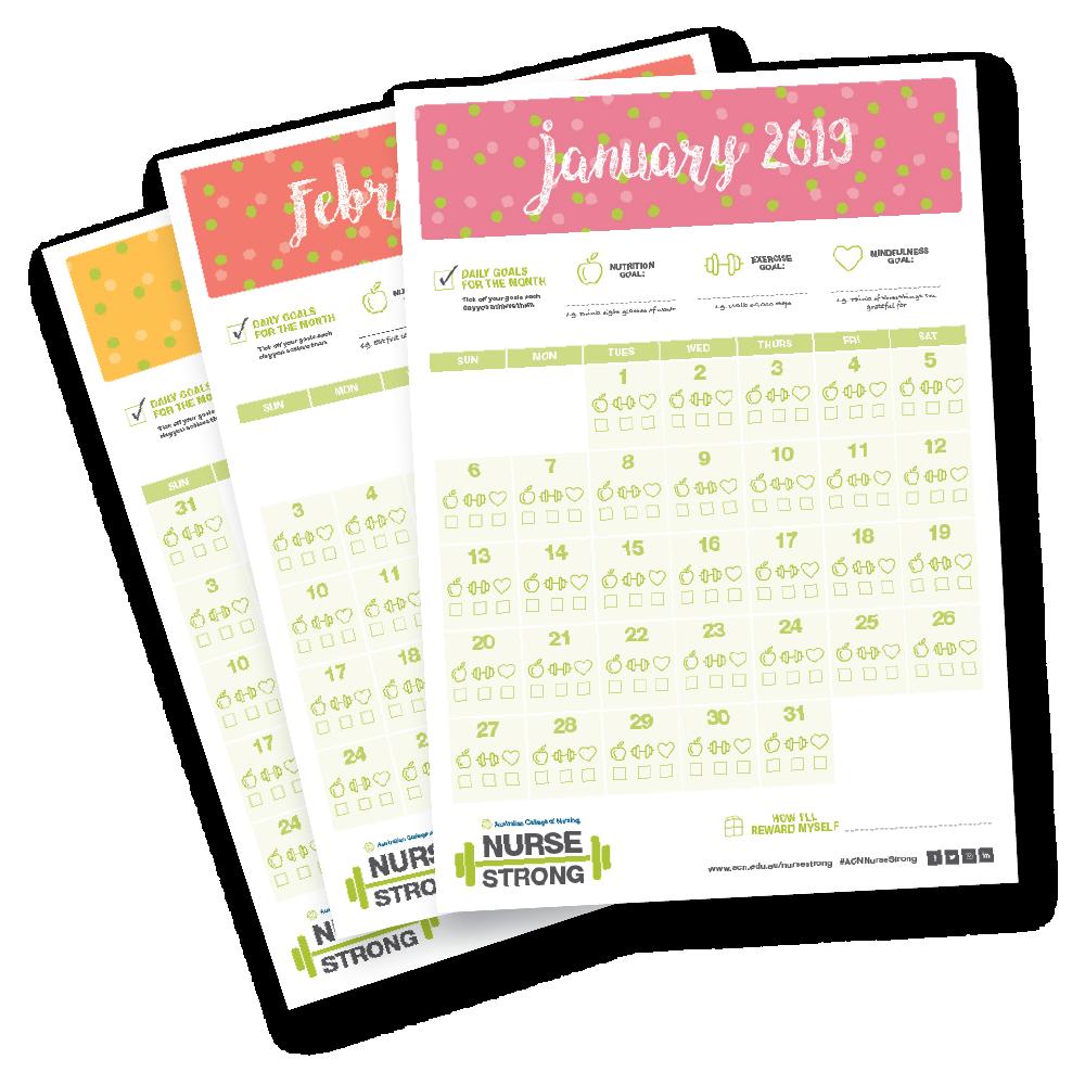 NurseStrong calendars
