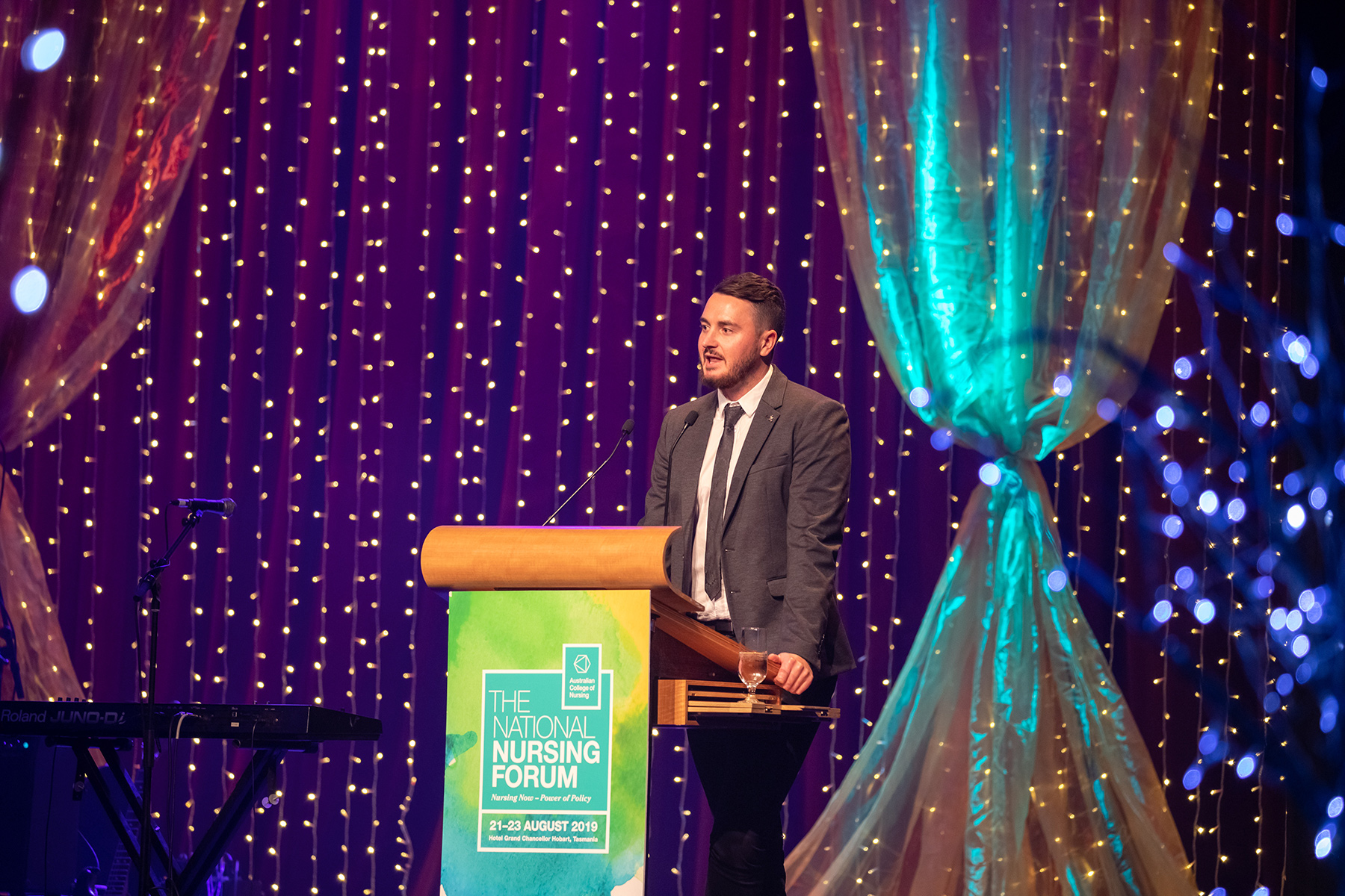 NNF 2019 Mitch McPherson at gala dinner