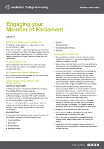 Engaging your MP info sheet cover