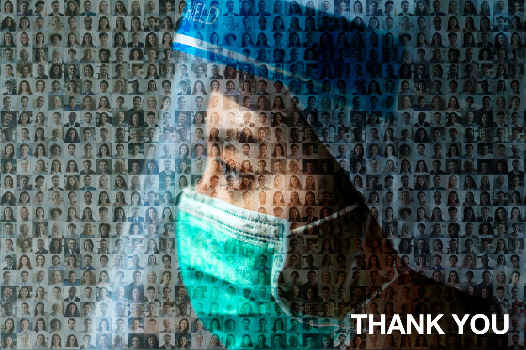 """Thank you"" mosaic"
