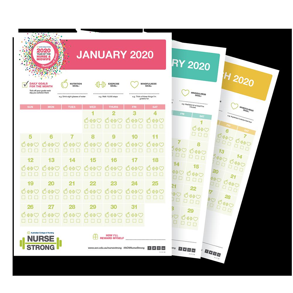 NurseStrong 2020 calendar