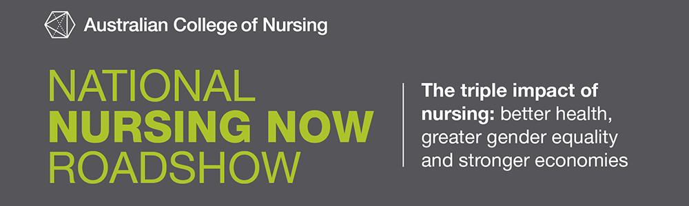 National Nursing Now Roadshow banner